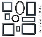 classical black picture frames  ... | Shutterstock .eps vector #74425354