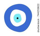 greek evil eye vector   symbol... | Shutterstock .eps vector #744253822