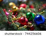 Christmas Background Of Balls