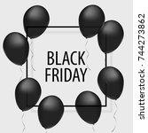 black friday. sale.   Shutterstock .eps vector #744273862