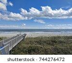Beach Boardwalk Ocean Horizon...