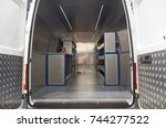 Small photo of Interior of mobile metalwork shop on the chassis of all-metal van
