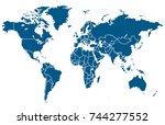 world map | Shutterstock .eps vector #744277552