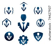 businessman icons for corporate ... | Shutterstock .eps vector #74427937