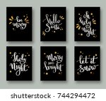 christmas  cards  and gift tags ...   Shutterstock .eps vector #744294472