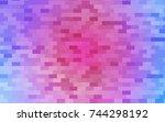 light pink  blue vector blurry... | Shutterstock .eps vector #744298192