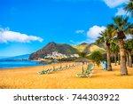 amazing view of beach las...   Shutterstock . vector #744303922