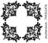 vintage baroque frame scroll...   Shutterstock .eps vector #744311476