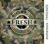fresh camouflaged emblem