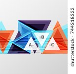 triangles and geometric shapes... | Shutterstock .eps vector #744318322