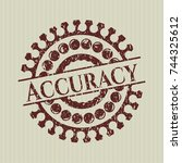 red accuracy rubber grunge stamp