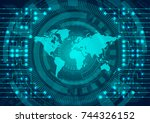 cyber security and information... | Shutterstock .eps vector #744326152