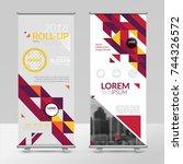 business roll up design... | Shutterstock .eps vector #744326572