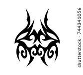 tribal tattoo art design... | Shutterstock .eps vector #744341056