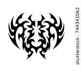 tribal tattoo art design... | Shutterstock .eps vector #744341062