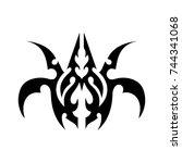 tribal tattoo art design...   Shutterstock .eps vector #744341068