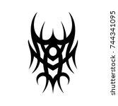 tribal tattoo art design... | Shutterstock .eps vector #744341095