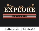 slogan graphic for t shirt | Shutterstock .eps vector #744347536