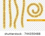 christmas traditional... | Shutterstock .eps vector #744350488