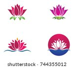 beauty vector flowers design... | Shutterstock .eps vector #744355012