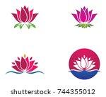 beauty vector flowers design... | Shutterstock .eps vector #744355012