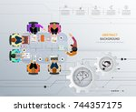 business meeting and... | Shutterstock .eps vector #744357175