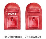 Red Mailbox For Postcards ...