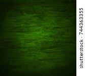 green black wall wood texture... | Shutterstock . vector #744363355