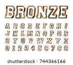 alphabet font template. set of... | Shutterstock .eps vector #744366166