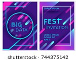 vibrant vector templates of web ... | Shutterstock .eps vector #744375142