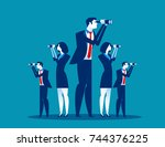 business vision. business team... | Shutterstock .eps vector #744376225
