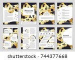 abstract vector layout... | Shutterstock .eps vector #744377668
