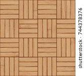 parquet background   seamless... | Shutterstock .eps vector #744378376