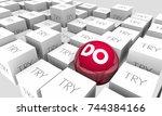 do vs try determination achieve ... | Shutterstock . vector #744384166