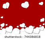 abstract valentine's day... | Shutterstock . vector #744386818