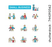 small business illustration ... | Shutterstock .eps vector #744393562