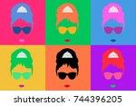 audrey hepburn  colored vector...