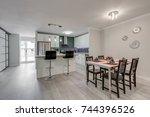 interior design of a modern... | Shutterstock . vector #744396526