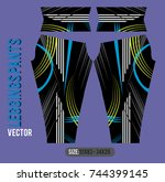 leggings pants fashion vector... | Shutterstock .eps vector #744399145
