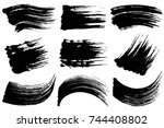 set of brush stroke... | Shutterstock .eps vector #744408802