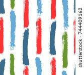 color brushstrokes of...   Shutterstock .eps vector #744409162