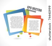 abstract vector background with ... | Shutterstock .eps vector #74440999