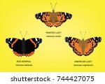 Butterfly Painted Lady Set...
