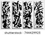 cards template. modern... | Shutterstock .eps vector #744429925