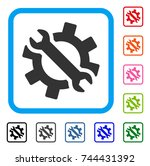 wrench and gear tools icon....