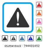 warning error icon. flat grey...