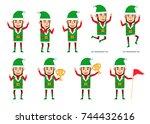 Set Of Christmas Elf Character...