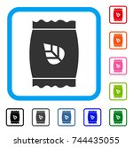 seed pack icon. flat gray...