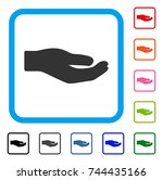 share hand icon. flat gray...