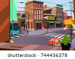 city | Shutterstock .eps vector #744436378